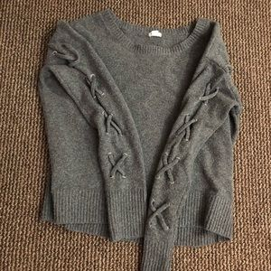 grey garage sweater